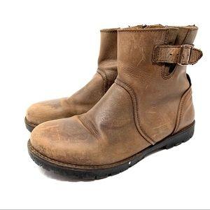 Birkenstock Stowe Brown Moto Leather boot 39 C130
